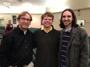 Bobby Hall, Sam Green, and Sean Thrower at the benefit concert - close friends and fellow guitar buddies of Ryan's