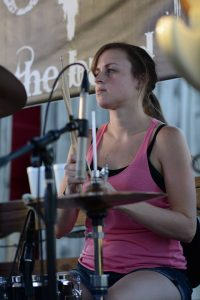 Emily Hall on Drums