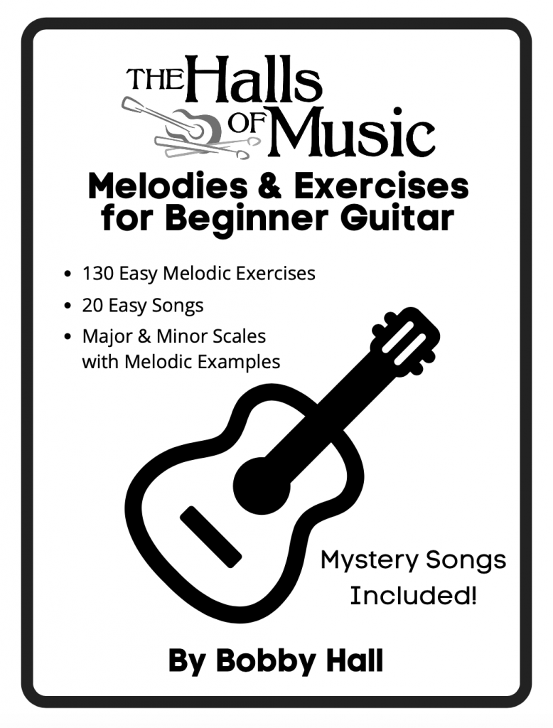 Melodies & Exercises for Beginner Guitar Book Cover